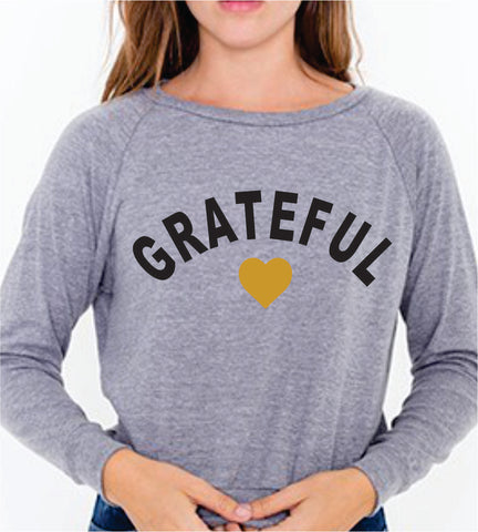 GRATEFUL HEART Heather Gray Raglan