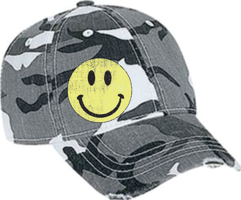 Camo Cap Happy Face