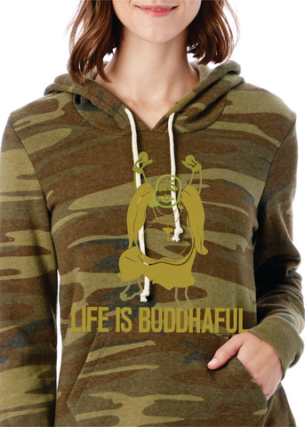 Life Is Buddhaful Gold Camo Hoody