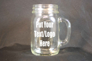 Personalized 16 Ounce Glass Mug, Custom Etching, Personalized Sand Etching, Personalized Glass, Drinking Glass - Country Rich Creations, LLC