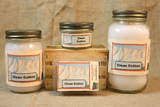 Clean Cotton Scented Candle, Clean Cotton Scented Wax Tarts, 26 oz, 12 oz, 4 oz Jar Candles or 3.5 Clam Shell Wax Melts - Country Rich Creations, LLC