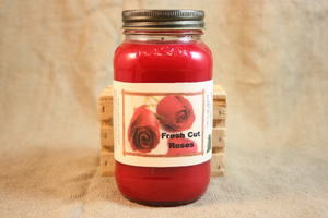Fresh Cut Roses Scented Candle,  Fresh Cut Roses Scented Wax Tarts, 26 oz, 12 oz, 4 oz Jar Candles or 3.5  Clam Shell Wax Melts - Country Rich Creations, LLC