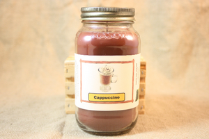Cappuccino Scented Candle, Cappuccino Scented Wax Tarts, 26 oz, 12 oz, 4 oz Jar Candles or 3.5 Clam Shell Wax Melts - Country Rich Creations, LLC