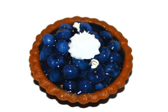 Blueberry Pie Candle, Bakery Candle, Wax Fake Food, Blueberry Scented Candle - Country Rich Creations, LLC