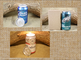Beer Can Candle Upcycled from Budweiser Beer Cans, Bud Light, With Lime, With Orange Candle - Free Shipping - Country Rich Creations, LLC