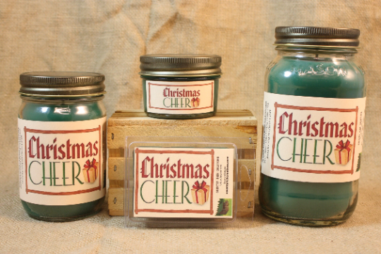 Christmas Cheer Candle, Scented Candles and Wax Melts, Highly Scented Beverage Candles and Wax Tarts, Holiday Scent Christmas Candle