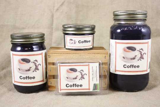 Coffee Scented Candles and Wax Melts, Beverage Scent Candle, Fresh Brewed Coffee Scent and Wax Tarts, Coffee Lover Gift
