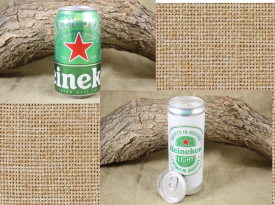 Beer Can Candle Upcycled from Heineken Beer Cans, Heineken Light - Free Shipping - Country Rich Creations, LLC