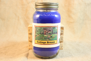 Cottage Breeze Scented Candle, Cottage Breeze Scented Wax Tarts, 26 oz, 12 oz, 4 oz Jar Candles or 3.5 Clam Shell Wax Melts - Country Rich Creations, LLC