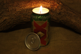 Dos Equis Beer Can Candle, You Choose the Scent of this Upcycled Dos Equis Beer Cans, Great Gift for Dos Equis Lovers - Free Shipping - Country Rich Creations, LLC