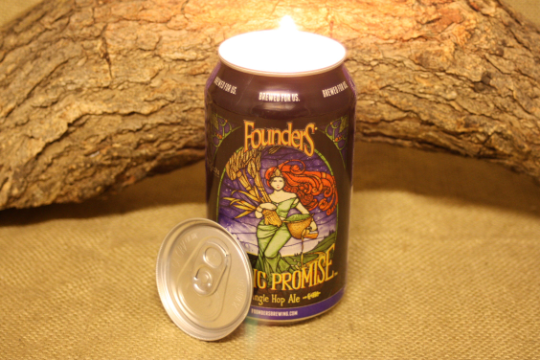 Beer Can Candle Upcycled from Founders Mosaic Promise Beer Can, Custom Made Candle, Founders Beer Can Candle - Free Shipping - Country Rich Creations, LLC