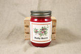 Holly Berry Candle and Wax Melts, Christmas Scent Candle, Highly Scented Candles and Wax Tarts, Mason Jar Candle, Holiday Candles - Country Rich Creations, LLC
