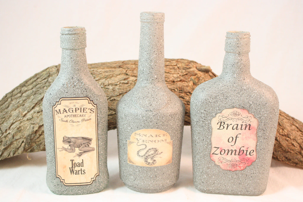 Halloween Decorations Potion Bottles Beauteous Potion Bottles Halloween Decoration Fall Decorations Stone Design Ideas