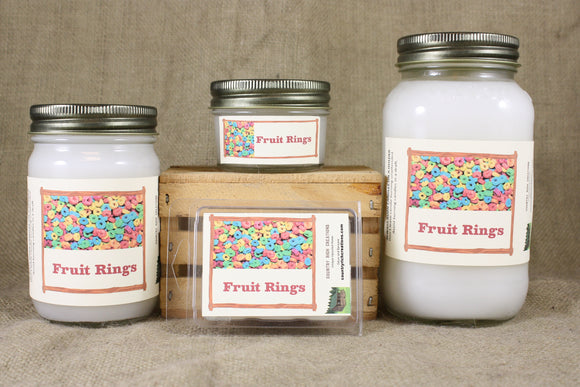 Fruit Rings Candle, Scented Candles and Wax Melts, Highly Scented Fruit Candles and Wax Tarts, Sweet Refreshing Scent, Great Gift for All