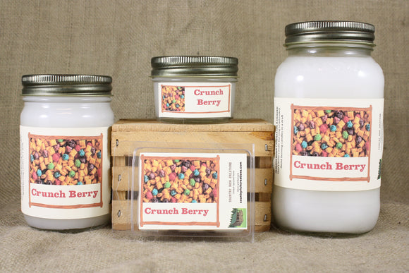 Crunch Berry Candle, Scented Candles and Wax Melts, Highly Scented Fruit Candles and Wax Tarts, Sweet Refreshing Scent, Great Gift for All