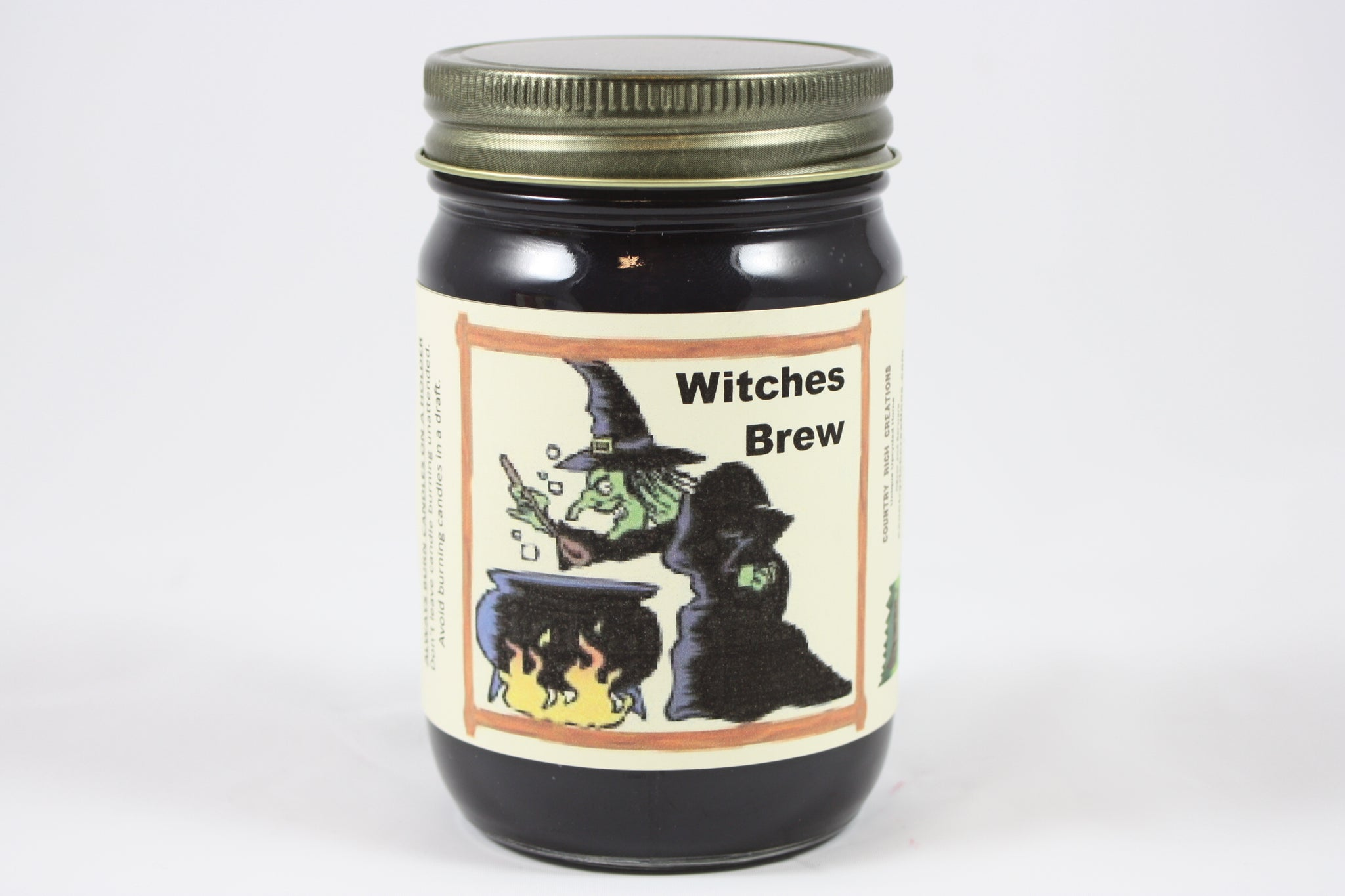 Witches Brew Scented Candle 12 Ounce Fall Scented Candle Halloween C Country Rich Creations Llc