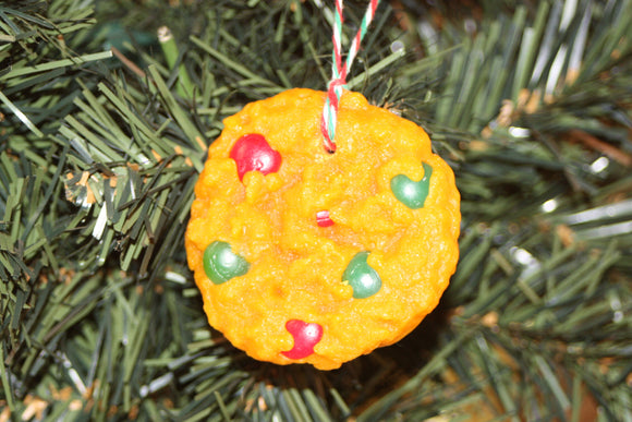 Chocolate Candy-Coated Cookie, Scented Cookie Ornament, Christmas Tree Ornament - Country Rich Creations, LLC
