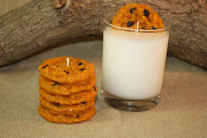 Cookies and Milk Candle Set, Highly Scented Chocolate Chip Cookie Candle, Unique Candle, Fake Food - Country Rich Creations, LLC