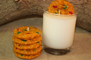Cookies and Milk Candle Set, Highly Scented Chocolate Candy-Coated Cookie Candle - Country Rich Creations, LLC