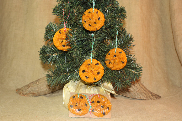 Chocolate Chip Cookie Ornament, Scented Cookie Ornament, Christmas Tree Ornament - Country Rich Creations, LLC