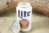 Beer Can Candle Upcycled from Miller Lite Beer, Custom Made Candle, Miller Lite Beer Can Candle - Free Shipping - Country Rich Creations, LLC