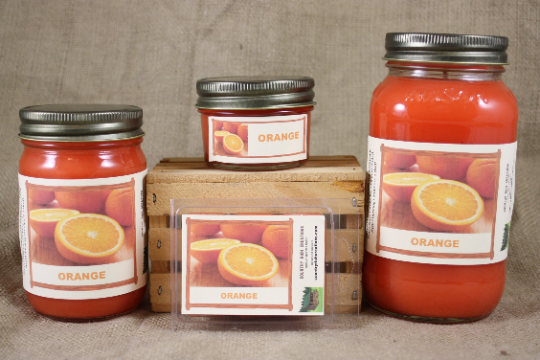 Orange Scent Candles and Wax Melts, Fruit Scented Candle Wax, Highly Scented Candles and Wax Tarts, Fresh Citrus Scent