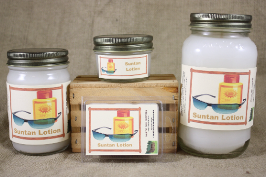 Suntan Lotion Scent Candles and Wax Melts, Unique Scented Candle Wax, Summertime Fun Aroma, Beach Scent Candle