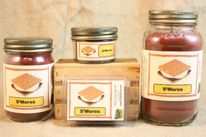S'mores Candle, Scented Candles and Wax Melts, Highly Scented Bakery Candles and Wax Tarts, Fun Summer Scent, Sweet S'Mores Candles