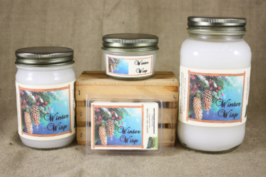Winter Wisp Candle and Wax Melts, Holiday Scent Candle, Highly Scented Candles and Wax Melts, Christmas Scent, Mason Jar Candle