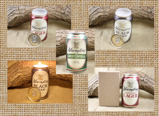 Yuengling Beer Can Candle from Upcycled Yuengling Traditional, Black and Tan, Chesterfield, and Light Beer Cans, Scented Candles in your Choice of Scent, Bar Décor - Free Shipping - Country Rich Creations, LLC