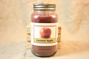 Caramel Apple Scented Candle, Caramel Apple Scented Wax Tarts, 26 oz, 12 oz, 4 oz Jar Candles or 3.5 Clam Shell Wax Melts - Country Rich Creations, LLC