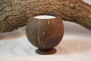 Large Coconut Shell Candle - Country Rich Creations, LLC