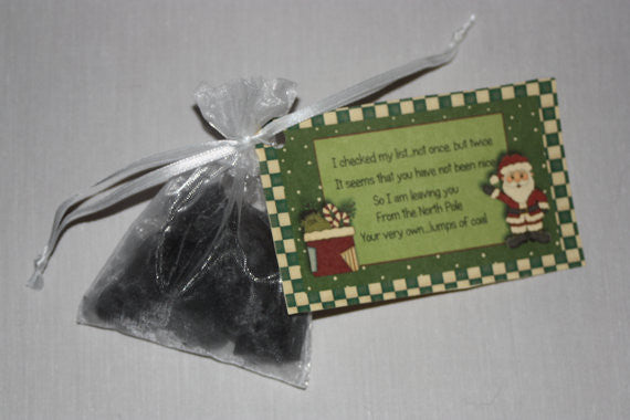 Coal Tart, Black Coal Candle, Coal Poem, Great Stocking Stuffer for the Naughty Person on your list - Country Rich Creations, LLC