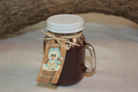 Hot Cocoa Mug Cup Candle Highly Scented in Hot Chocolate 4 ounce Candle - Country Rich Creations, LLC