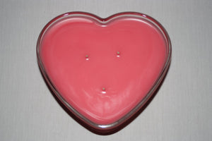 Heart Shaped Candle - 3 Wicked - You choose Color and Scent - Country Rich Creations, LLC