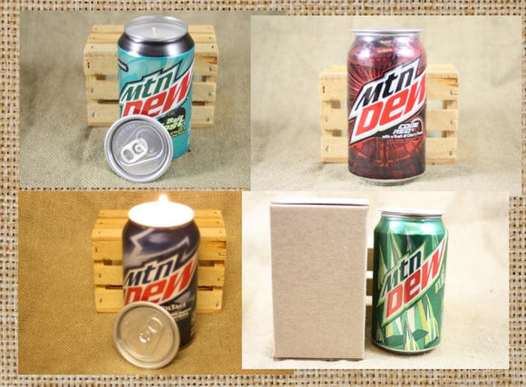 Mountain Dew Can Candle - Choose the Style of Can and Scent You Like - Free Shipping - Country Rich Creations, LLC