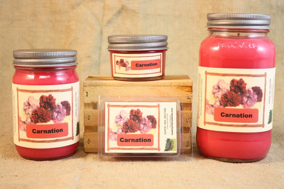 Carnation Scent Candles and Wax Melts, Flower Scent Candle Wax, Highly Scented Candles and Wax Tarts, Gift for Mom, Spring Scent Candle - Country Rich Creations, LLC