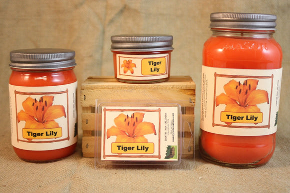 Tiger Lily Candles and Wax Melts, Flower Scent Candle Wax, Highly Scented Candles and Wax Tarts, Gift for Her, Gift for Mom - Country Rich Creations, LLC