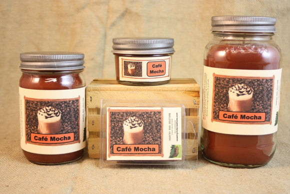 Cafe Mocha Coffee Candle, Scented Candles and Wax Melts, Highly Scented Beverage Candles and Wax Tarts, Coffee Lover Gift, Gift for Mom - Country Rich Creations, LLC