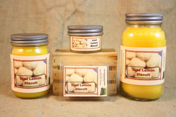 Iced Lemon Biscuit Candle and Wax Melts, Bakery Scent Candle, Highly Scented Candles and Wax Tarts, Mason Jar Candle, Housewarming Gift - Country Rich Creations, LLC