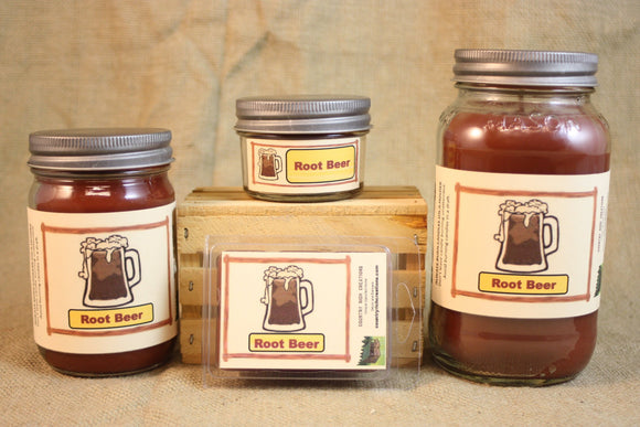 Root Beer Candle and Wax Melts, Beverage Scent Candle, Highly Scented Candles and Wax Tarts, Mason Jar Candle, Great Summertime Candle - Country Rich Creations, LLC