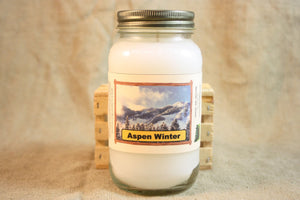 Aspen Winter Candle and Wax Melts, Nature Scent Candle, Highly Scented Candles and Wax Tarts, Great Winter Scent, Housewarming Gift - Country Rich Creations, LLC