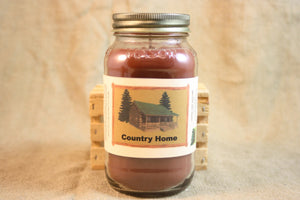 Country Home Scented Candle, Country Home Scented Wax Tarts, 26 oz, 12 oz, 4 oz Jar Candles or 3.5 Clam Shell Wax Melts - Country Rich Creations, LLC
