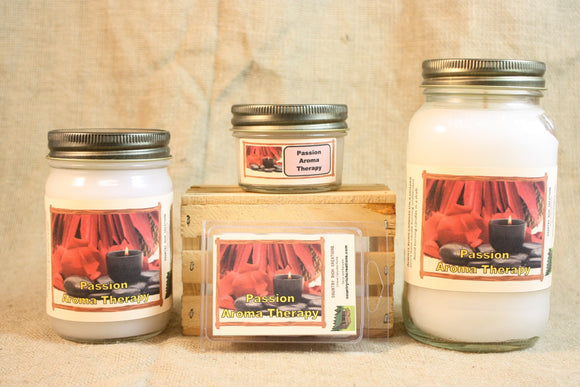 Aromatherapy Passion Scented Candle, Aromatherapy Passion Scented Wax Tarts, 26 oz, 12 oz, 4 oz Jar Candles or 3.5 Clam Shell Wax Melts - Country Rich Creations, LLC