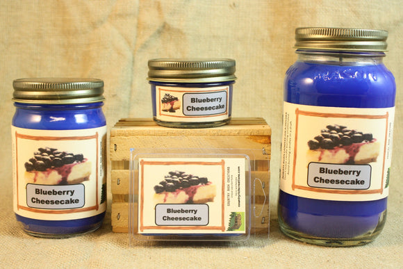 Blueberry Cheesecake Candles and Wax Melts, Bakery Scent Candle Wax, Highly Scented Candles and Wax Tarts, Great Home Baked Scent - Country Rich Creations, LLC
