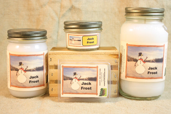 Jack Frost Candle and Wax Melts, Winter Scent Candle, Highly Scented Candles and Wax Tarts, Great Holiday Scent Candle, Housewarming Gift - Country Rich Creations, LLC