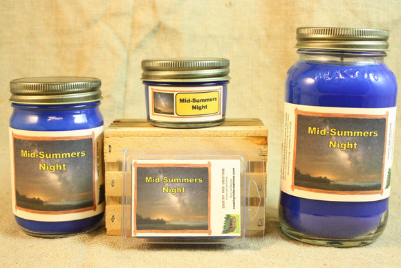 Mid Summers Night Candle and Wax Melts, Male Fragrance Scent Candle, Scented Candles and Wax Tarts, Gift for Him, Masculine Scent Candle - Country Rich Creations, LLC
