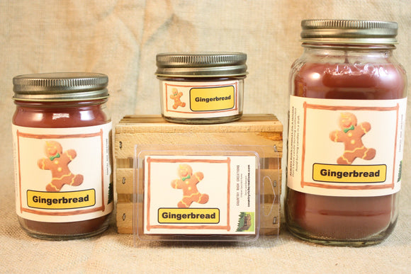 Gingerbread Candle, Scented Candles and Wax Melts, Highly Scented Bakery Candles and Wax Tarts, Holiday Scent, Christmas Candle Scent - Country Rich Creations, LLC