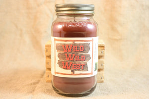 Wild Wild West Scented Candle, Wild Wild West Scented Wax Tarts, 26 oz, 12 oz, 4 oz Jar Candles or 3.5 Clam Shell Wax Melts - Country Rich Creations, LLC