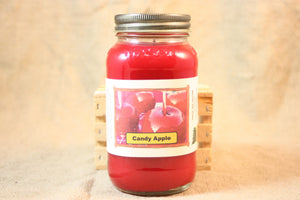 Candy Apple Scented Candle, Candy Apple Scented Wax Tarts, 26 oz, 12 oz, 4 oz Jar Candles or 3.5 Clam Shell Wax Melts - Country Rich Creations, LLC